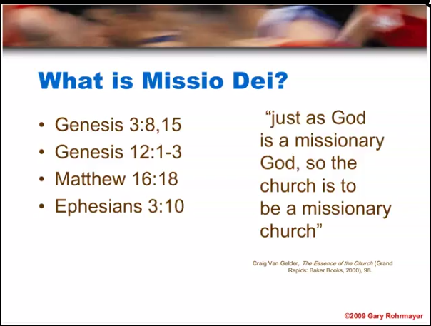 What Is Missio Dei