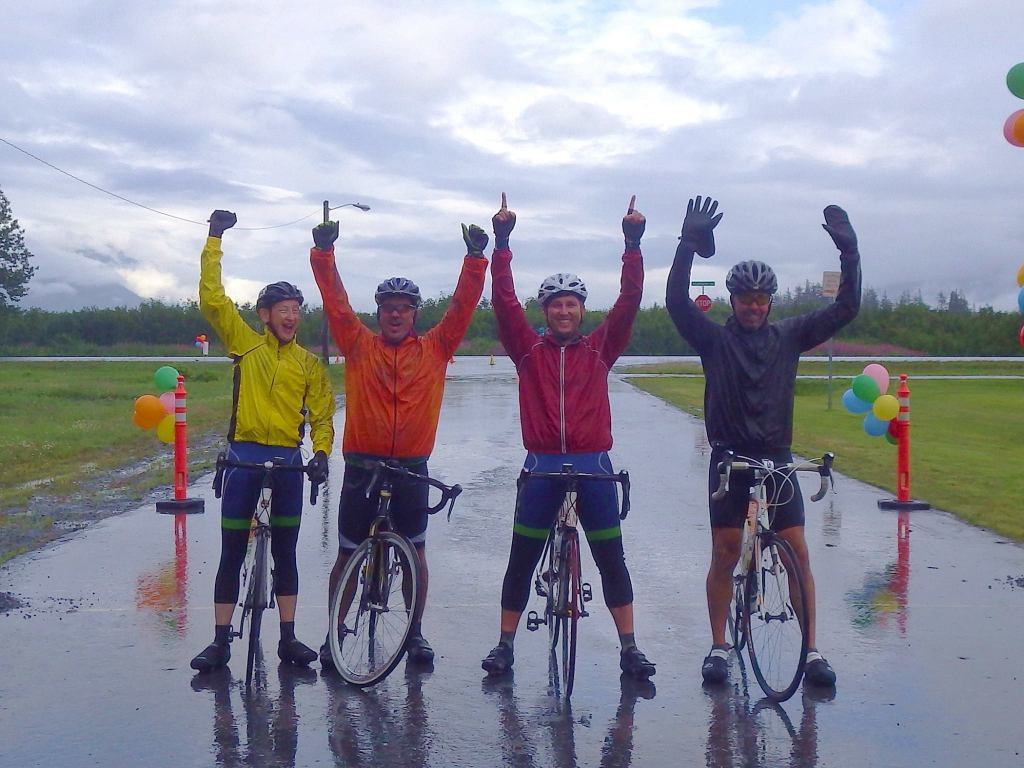 Here is our cycling team at the end of last year's race
