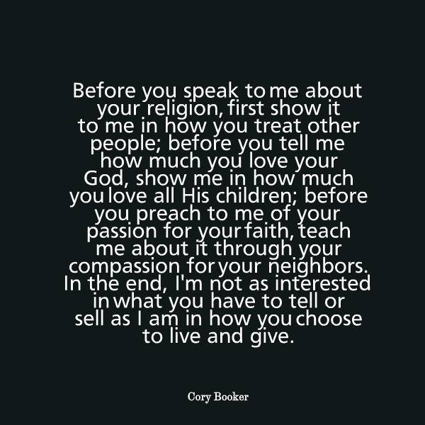cory booker quote